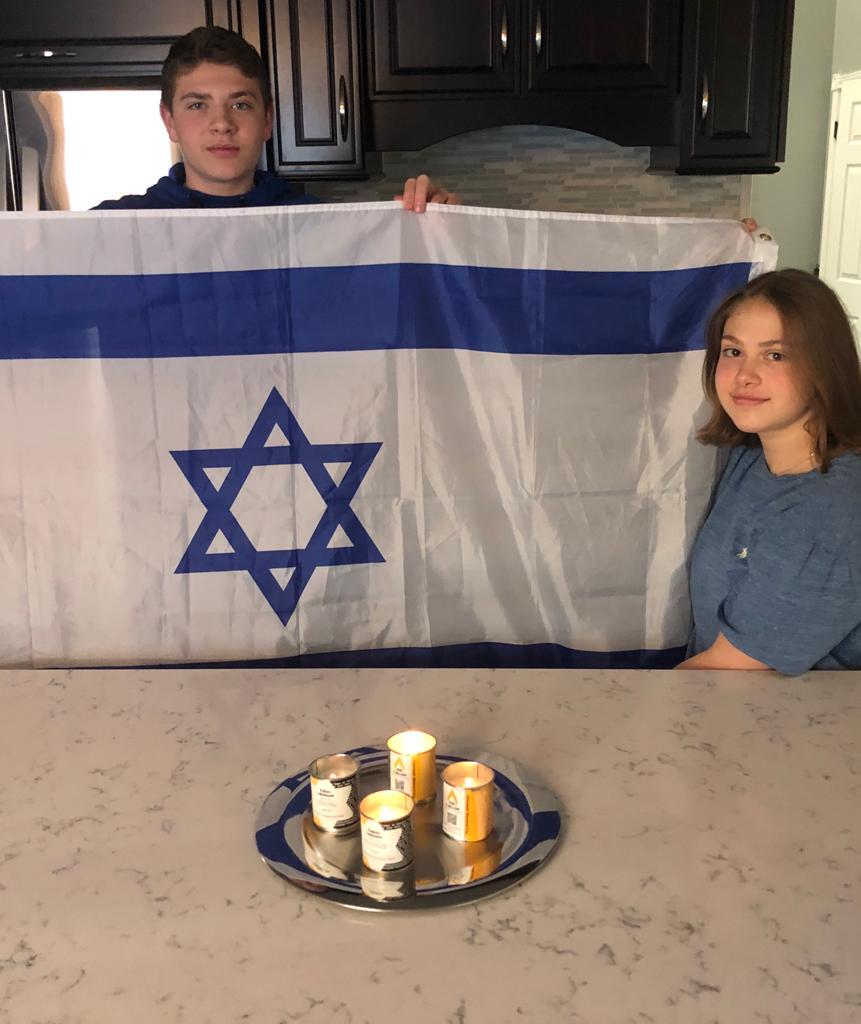 We each lit a candle tonight for Regina Murek Yaakov Levkovitz Icie Veintraub and Yulius Likhtman.-Salt lake city